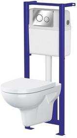 Cersanit Zestaw podtynkowy WC Neso bezkołnierzowy z deską woloopadającą SZWZ1003662898