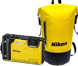 NikonCOOLPIX W300 żółty Holiday Kit