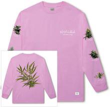 HUF t-shirt HUF TROPICAL PLANTS LS TEE Pink