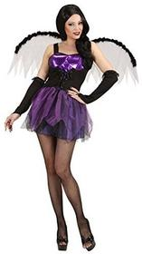 Widmann Ladies Gothic Fairy (Dress Wings Gloves) Halloween strój(Purple), Multicoloured s SA-89821