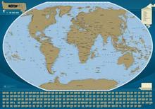 Scratch-off map The World , mapa zdrapka 1:50 000 000 ArtGlob