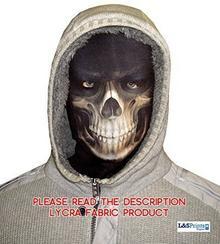 L&S PRINTS FOAM DESIGNS Halloween kosy mężczyzna nowość maska maska na twarz z materiału przyjemność Design szal twarzy wyprodukowana w Yorkshire
