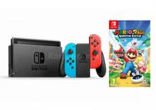 Nintendo Switch Niebiesko-Czerwony + Mario+Rabbids Kingdom Battle