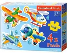 Castorland Puzzle konturowe 3-4-6-9 elementów Funny Planes 4 w 1