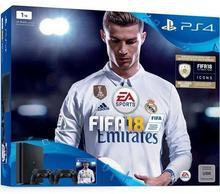 Sony PlayStation 4 slim 1TB Czarny + FIFA 18 + 2xDualshock 4