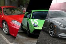 Ferrari F430 vs Lamborghini Gallardo vs Nissan GTR