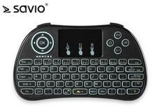 Elmak SAVIO WK-01 Klawiatura bezprzewodowa Android TV Box Smart TV PS3 XBOX360 PC SAVWK-01