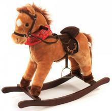 Bayer Chic Koń na biegunach z dźwiękiem jasny brąz