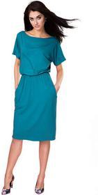KASIA MICIAK Sukienka uniwersalna z kieszeniami turkusowa