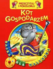 praca zbiorowa Kot gospodarzem Przeczytaj i pokoloruj Bajka dla maluszka