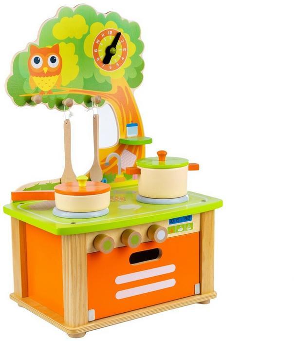 Green Series Drewniana Kuchnia Dla Dzieci Piekarnik Wyposażenie GS0050