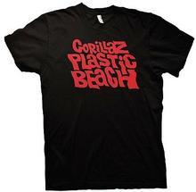 Gorillaz Plastic Beach-Red Logo czarna