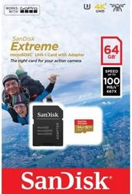 SanDisk MicroSDXC Extreme Class 10 64GB + adapter
