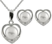 Bella Pearlsfineother 925srebro wysokiej próby srebrny szlif okrągły półokrągła chińska perła hodowlana biała perła oxyde de Zirconium