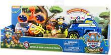 Spin Master Psi Patrol Dżungla Poduszkowiec i Radiowóz + figurki Chase i Zuma 6034314