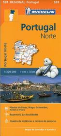 Portugal Norte, 1:300 000 Michelin