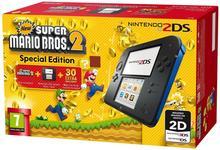 Nintendo 2DS Czarno-Niebieski + New Super Mario Bros 2