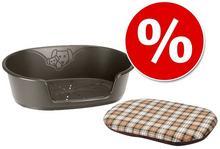 Ferplast Zestaw Higieniczny koszyk dla psa Siesta + Poduszka dla psa Aumüller Lindo Rozmiar S
