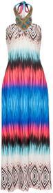 Bonprix Sukienka kolorowa niebieski