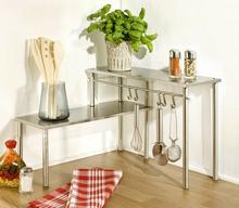 Wenko Narożna półka kuchenna srebrna, 2 poziomy, 32x45x16 cm