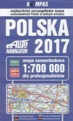 Dom Wydawniczy PWN Mapa samochodowa Polski 2017 dla profesjonalistów 1:700 000 - Opracowanie zbiorowe