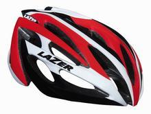 Lazer O2 szosowy kask rowerowy biało-czerwony