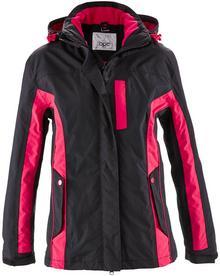 Bonprix Kurtka outdoorowa 3 w 1 czarno-różowoczerwony