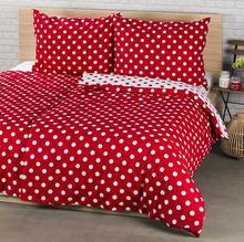 4Home Pościel bawełniana Czerwona kropka, 220 x 200 cm, 2 szt. 70 x 90 cm