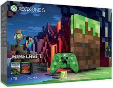 Microsoft Xbox One S 1 TB Edycja Limitowana Minecraft + Minecraft + 6M Live Gold
