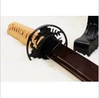 Kuźnia mieczy samurajskich MIECZ SAMURAJSKI WAKIZASHI DO TRENINGU, STAL WYSOKOWĘGLOWA 1095 WARSTWOWANA CZERWONA DAMASCEŃSKA, R831