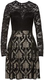 Bonprix Sukienka z koronką czarny