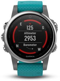 Garmin 5S Silver Turquoise band