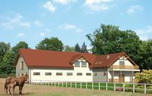 SC07 - Stajnia dla 16 koni z częścią mieszkalną-rekreacyjną i poddaszem gospodarczym