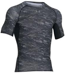 Under Armour T-Shirt termoaktywna Printed Compression czarny K/R (1257477-005)