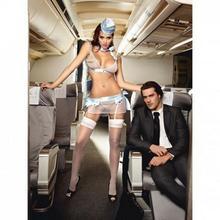 Baci Lingerie Przebranie stewardessa - First Class Flight Attendant One Size BC003A