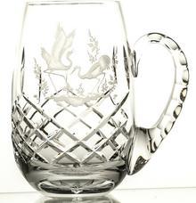 Crystaljulia Kufel grawerowany do piwa żurawie kryształowy 05625) 05625