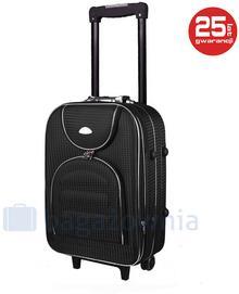 PELLUCCI Mała kabinowa walizka PELLUCCI 801 S - Czarna Kratka - czarny
