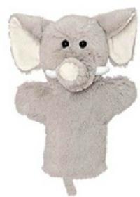 Teddykompaniet Teddkompaniet pacynka pluszowa słonik Enova25209