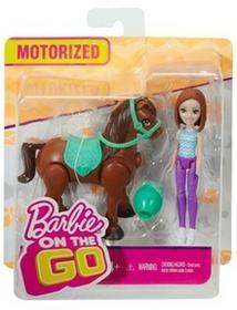 Barbie On the Go. Kucyk brązowy + lalka