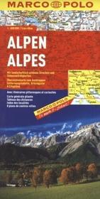 Daunpol Alpy 1:800 000 w. niemiecka mapa Marco Polo - Pascal