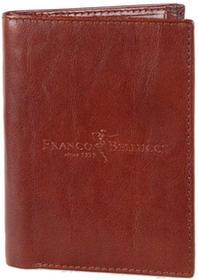 Bellucci Portfel męski skórzany M1 Brązowy - brązowy