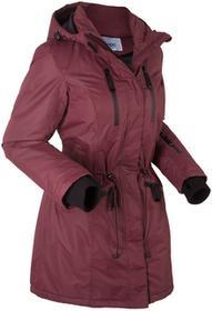 Bonprix Długa kurtka funkcyjna outdoorowa czerwony klonowy