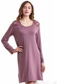 Luisa Moretti Bambusowa koszula nocna damska ANNA M Jagodowy LM_2028