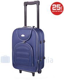 PELLUCCI Mała kabinowa walizka PELLUCCI 801 S - Granatowa Kratka - granatowy