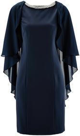 Bonprix Sukienka z kamieniami ciemnoniebieski