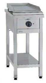 Asber Płyta grillowa gazowa, wolnostojąca, propan-butan, 4,5 kW, 400x700x850 mm | ECO COOK GFTE-400