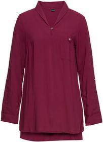 Bonprix Długa bluzka czerwony purpurowy