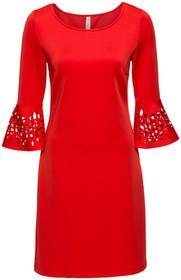 Bonprix Sukienka z wycięciami czerwony