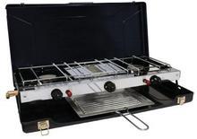 Highlander kuchenka gazowa, 2 palniki, płyta grillowa GAS046