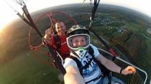 Lot paralotnią Zielona Góra lot z silnikiem
